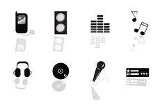 Abstract music equipment icon Stock Image