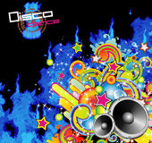 Abstract Music Flyer Background. Colorful Musical Evet Background for Discoteque Flyers Royalty Free Stock Photo