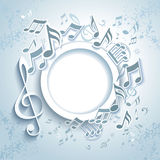 Abstract Music Frame. Stock Photo