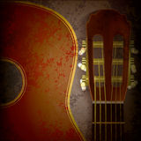 Abstract music grunge background with guitar Royalty Free Stock Photography