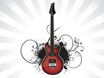 Abstract music guitar with grunge. Abstract music theme with guitar vector illustration Royalty Free Illustration