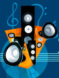 Abstract music illustration Stock Photo