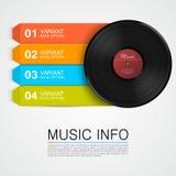 Abstract music info. Vinyl disk Stock Photos