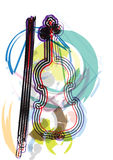 Abstract music instrument illustration. Abstract music notes vector illustration Stock Photo