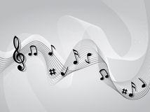 Abstract Music Music Theme Background Royalty Free Stock Image