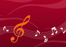 Abstract Music Note. In brown background Royalty Free Stock Photography
