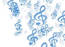 Abstract music note background Stock Image