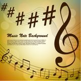 Abstract music note background Stock Photo
