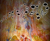 Abstract music notes Stock Image