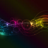 Abstract music notes background Stock Images