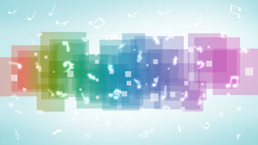 Abstract music notes background Royalty Free Stock Photography
