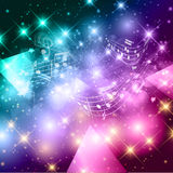 Abstract music notes background Stock Photos