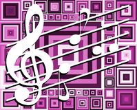 Abstract Music notes on background Stock Image