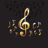 Abstract music notes background. Music Background. Stock Images