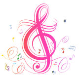 Abstract music notes colorful background Royalty Free Stock Photos