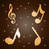 Abstract music notes design for music background use royalty free illustration