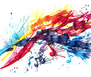 Abstract music. The notes do not need to abstract music vector illustration