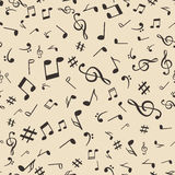 Abstract music notes seamless pattern background vector illustration for your design Royalty Free Stock Image
