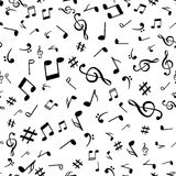 Abstract music notes seamless pattern background vector illustration for your design Royalty Free Stock Photography