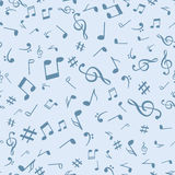 Abstract music notes seamless pattern background vector illustration for your design Royalty Free Stock Photos
