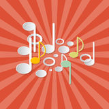 Abstract Music Retro Red Background Royalty Free Stock Images