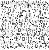 Abstract music seamless pattern background  illustration for your design Stock Photo