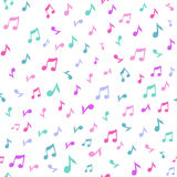 Abstract music seamless pattern background vector illustration for your design. Royalty Free Stock Image