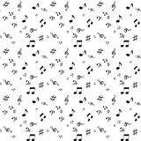 Abstract music seamless pattern background vector Royalty Free Stock Photos