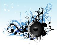 Abstract music speaker design Royalty Free Stock Image