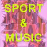 Abstract music&sport mesh vector illustration