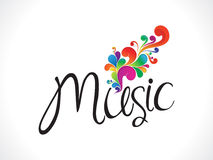 Abstract music text with floral Stock Image