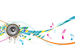 Abstract Music theme Stock Photo