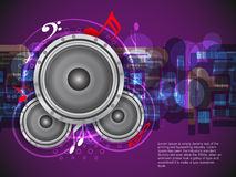 Abstract music theme background with loudspeakers. Vector Illustration Royalty Free Stock Photos