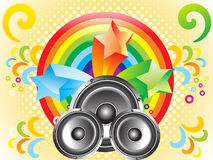 Abstract_music_theme_with_sounds. Colorful abstract background with sound vector illustration Stock Illustration