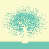 An abstract Music Tree Background. For Print or Web Stock Photography