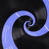 Abstract music vinyl disc spiral fractal background. Retro music vinyl disc abstract fractal. Vintage musical conceptual image Stock Photo