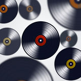 Abstract Music Vinyls Stock Image