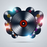 Abstract Music Vinyls Stock Photos