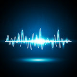 Abstract music waves background Stock Photos