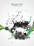 Abstract musical background Stock Images
