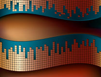 Abstract musical background. Curvy background with mosaic pattern Stock Photo
