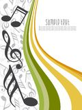 Abstract musical background. This image is a illustration of abstract musical background stock illustration
