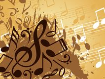 Abstract musical background. This image is a illustration of abstract musical background royalty free illustration