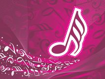 Abstract musical background. This image is a illustration of abstract musical background Stock Photos