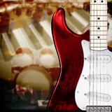 Abstract musical background. Abstract music background with electric guitar Stock Photos