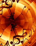 Abstract musical background Royalty Free Stock Photography