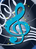 Abstract Musical background in blue tones Royalty Free Stock Image