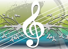Abstract Musical background colorful. An abstract illustration with treble clef and note. A nice background usable not only for project about music, but for vector illustration