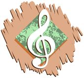 Abstract Musical background colorful. An abstract illustration with treble clef and note. A nice background usable not only for project about music, but for royalty free illustration