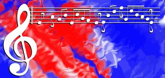 Abstract Musical background colorful Royalty Free Stock Image